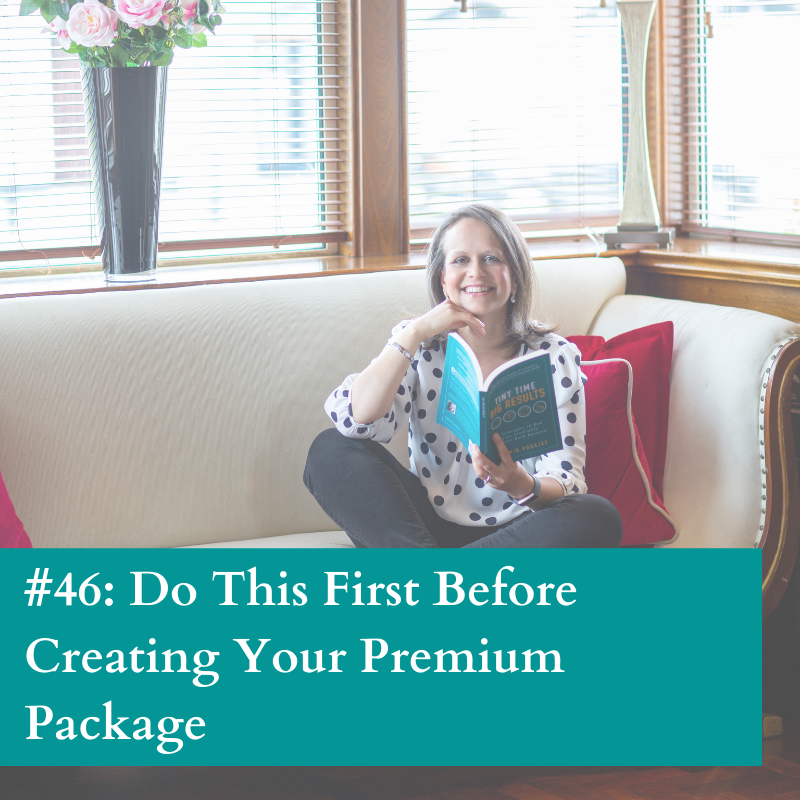 Do this before creating a premium package