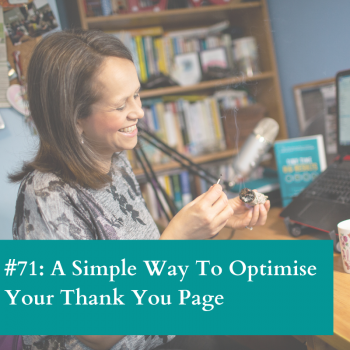 Optimise your thank you page